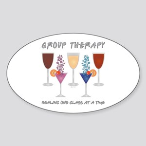 Group Therapy Sticker (Oval)