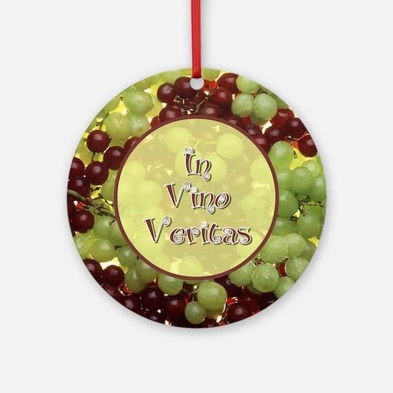 In Vino Veritas Ornament (Round)