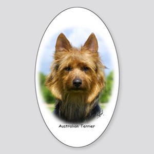 Australian Terrier 9R044D-19 Sticker (Oval)