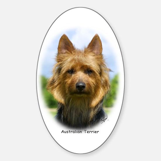 Australian Terrier 9R044D-19 Sticker (Oval)