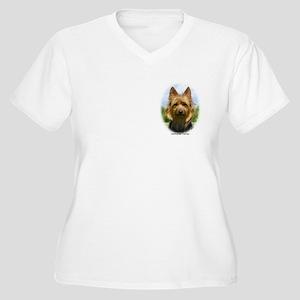 Australian Terrier 9R044D-19 Women's Plus Size V-N