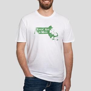 Kickin' Ass in Mass (shamrock) Fitted T-Shirt