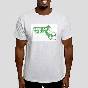 Kickin' Ass in Mass (shamrock) Ash Grey T-Shirt