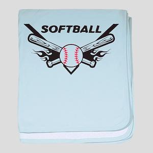 Softball baby blanket