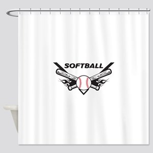 Softball Shower Curtain