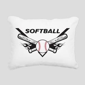 Softball Rectangular Canvas Pillow