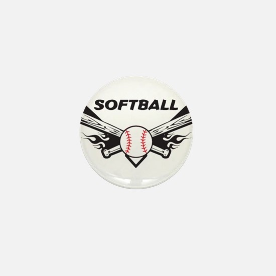 Softball Mini Button
