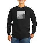 Piranha Pizza Long Sleeve Dark T-Shirt