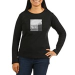 Piranha Pizza Women's Long Sleeve Dark T-Shirt
