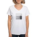 Piranha Pizza Women's V-Neck T-Shirt