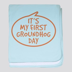 Baby's First Groundhog Day baby blanket