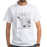 Evolution or Failed Fish Suicide White T-Shirt