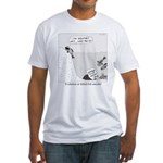 Evolution or Failed Fish Suicide Fitted T-Shirt