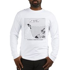 Evolution or Failed Fish Suicide Long Sleeve T-Shi
