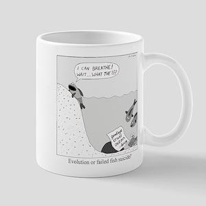 Evolution or Failed Fish Suicide Mug