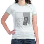 No Moleste (No Text) Jr. Ringer T-Shirt