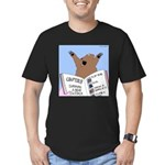 Surviving a Bear Attack Men's Fitted T-Shirt (dark
