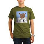 Surviving a Bear Attack Organic Men's T-Shirt (dar