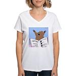 Surviving a Bear Attack Women's V-Neck T-Shirt