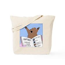 Surviving a Bear Attack Tote Bag