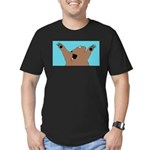 Bear Attack! Men's Fitted T-Shirt (dark)