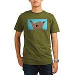 Bear Attack! Organic Men's T-Shirt (dark)