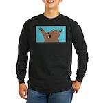 Bear Attack! Long Sleeve Dark T-Shirt