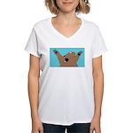 Bear Attack! Women's V-Neck T-Shirt