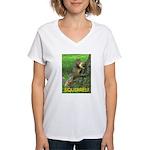SQUIRREL! Women's V-Neck T-Shirt