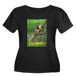 SQUIRREL! Women's Plus Size Scoop Neck Dark T-Shir