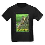 SQUIRREL! Kids Dark T-Shirt