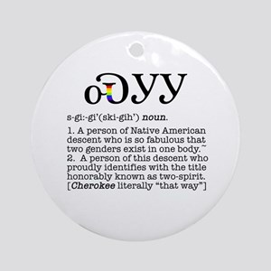 Cherokee Two-Spirit Ornament (Round)