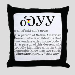 Cherokee Two-Spirit Throw Pillow