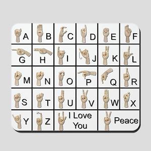 Ameslan Alphabet Mousepad