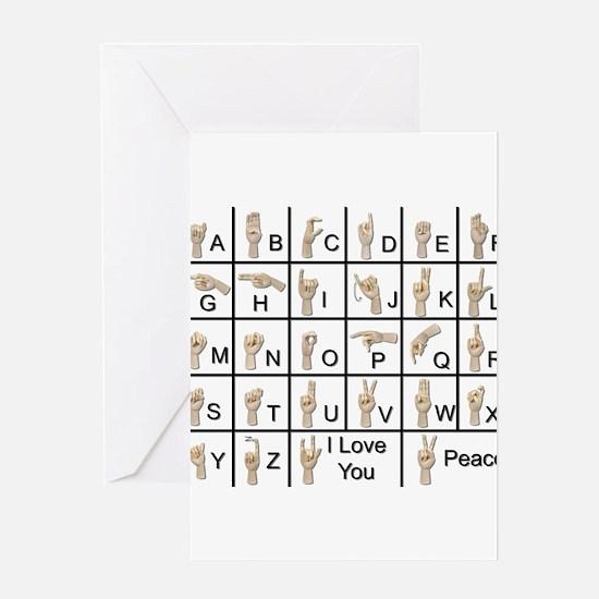 Ameslan Alphabet Greeting Card