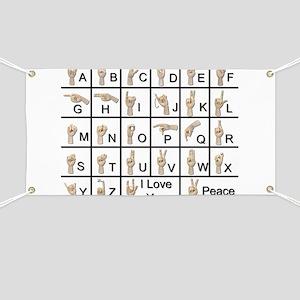 Ameslan Alphabet Banner