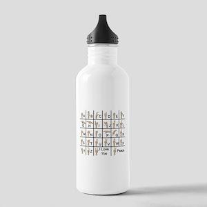Ameslan Alphabet Stainless Water Bottle 1.0L