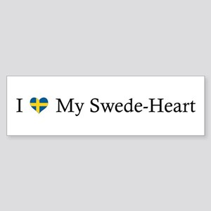 Love Swede Heart Sticker (Bumper)