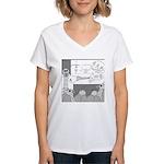 Atomic Bomb (No Text) Women's V-Neck T-Shirt