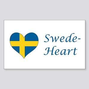 Swede-Heart Sticker (Rectangle)