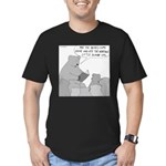 Bear Story Time (No Text) Men's Fitted T-Shirt (da