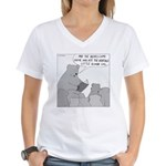 Bear Story Time (No Text) Women's V-Neck T-Shirt
