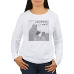 Bear Story Time (No Text) Women's Long Sleeve T-Sh