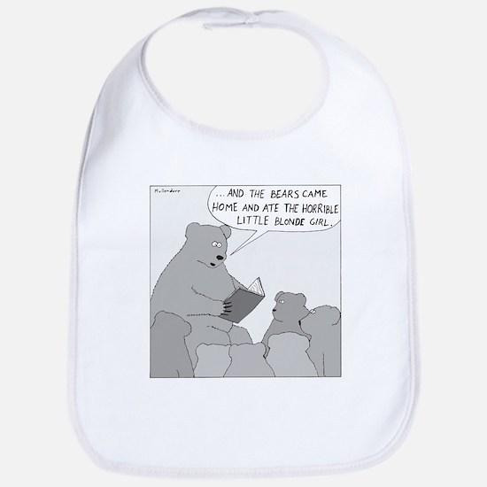 Bear Story Time (No Text) Bib