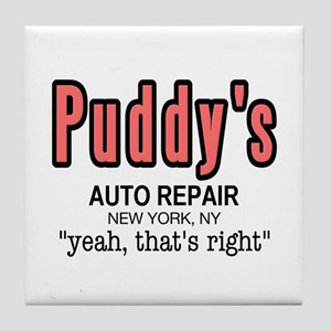 Puddy's Auto Repair Seinfield Tile Coaster