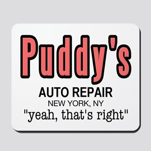 Puddy's Auto Repair Seinfield Mousepad