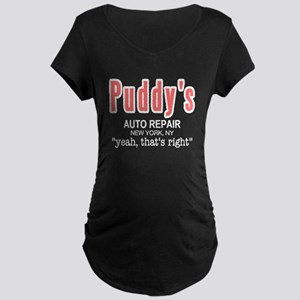 Puddy's Auto Repair Seinfield Maternity Dark T-Shi