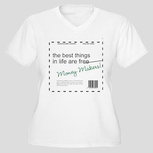 Money Makers! Women's Plus Size V-Neck T-Shirt