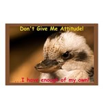 Don't Give Me Attitude! Postcards (Package of 8)