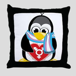 Transgender Penguin Throw Pillow